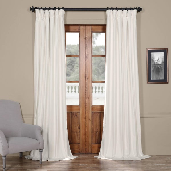 Shop Exclusive Fabrics Solid Cotton Curtain Panel