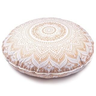 Golden Throw Decorative Floor Pillow Cushion Cover