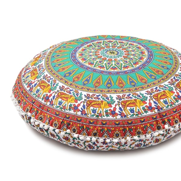 Large Throw Decorative Floor Pillow Cushion Cover Mandala - Free ...