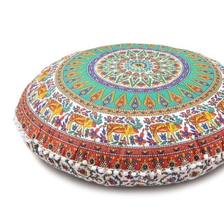 Large Throw Decorative Floor Pillow Cushion Cover Mandala