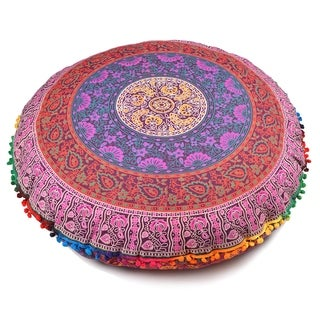 Multi-Color Throw Decorative Floor Pillow Cushion Cover