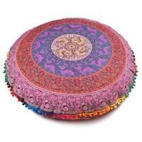 Multi-Color Throw Decorative Floor Pillow Cushion Cover