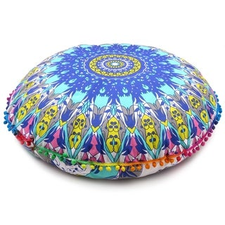 Exquisite Large Digital Print Floor Pillow Covers Meditation Cushion Covers.