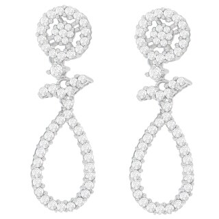 14K White Gold 1 1/3ct. TDW Round-cut Diamond Earrings (H-I,SI1-SI2)