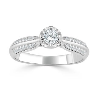 Auriya 14k Gold 1/3ct TDW Diamond Engagement Ring (H-I, I1-I2)