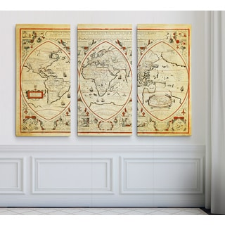 Vintage Wold Map III Parchment
