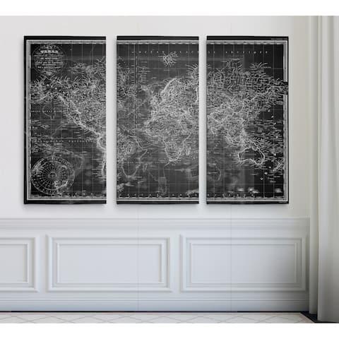 Vintage Wold Map V Grey