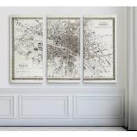 Vintage Paris Map Outline