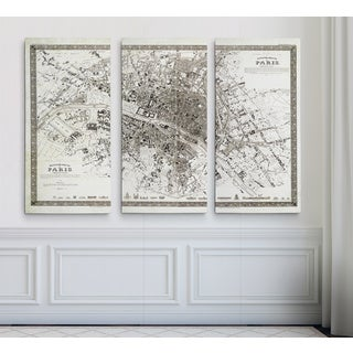 Vintage Paris Map Outline