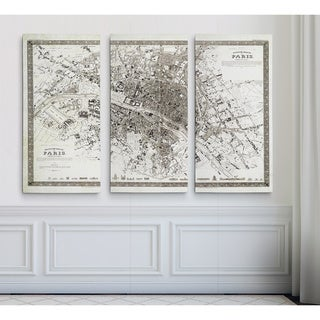 Link to Vintage Paris Map Outline Similar Items in Canvas Art