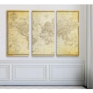 Vintage Wold Map v Parchment