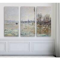 Breakup-of-Ice -Claude Monet
