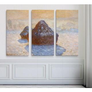 Haystacks-White -Claude Monet