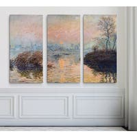 Sunset-on-the-Seine -Claude Monet