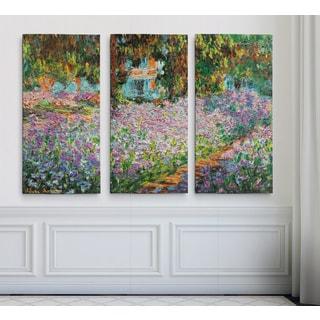 Irises-in-Garden -Claude Monet