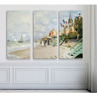 Boardwalk-on-the-Beach -Claude Monet