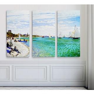 Regatta-at-Sainte1 -Claude Monet