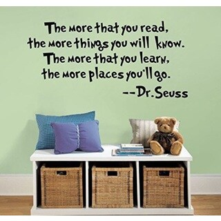 'The More That You Read' Dr. Seuss Vinyl Wall Decal