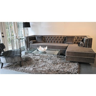 Kingray Furniture Lanesboro Tufted Regency Sectional
