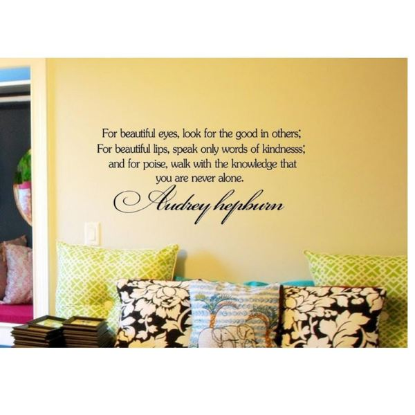 Shop For Beautiful Eyes Audrey Hepburn Quote Vinyl Wall Decal On