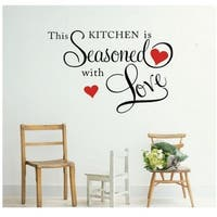 'This Kitchen is Seasoned with Love' Vinyl Wall Decal