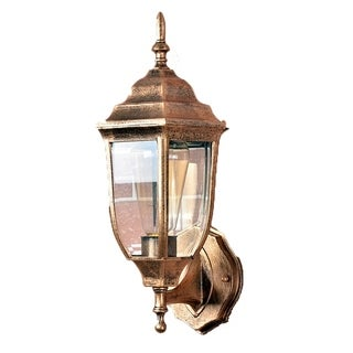 Retro Outdoor Wall Lantern 4 Sided Aluminum Garden Wall Light Waterproof Lamps