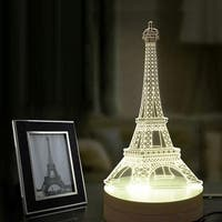 Touch LED 3D Illuminated Lamp Abstraction Optical Illusion USB Desk Night Light