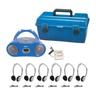 HamiltonBuhl 6 Person CD/MP3 Listening Center with Personal Headphones