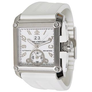 Baume & Mercier Hampton Magnum Ladies Watch in Stainless Steel|https://ak1.ostkcdn.com/images/products/17075384/P23348620.jpg?impolicy=medium