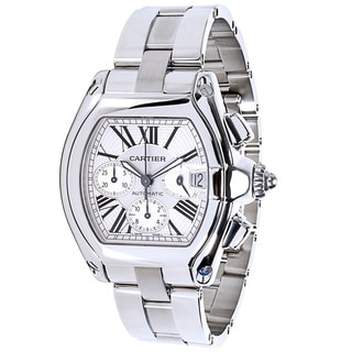 Cartier Roadster W62019X6 Chronograph Men's Watch in Stainless Steel