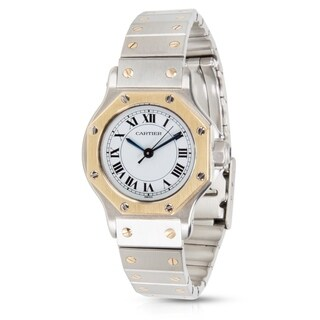 Cartier Santos Ladies Watch in Stainless Steel and 18K Yellow Gold