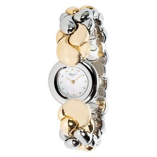 Chopard 'Geneve' Women's Watch in 18KT Yellow Gold Mother of Pearl Dial|https://ak1.ostkcdn.com/images/products/17075415/P23348616.jpg?impolicy=medium