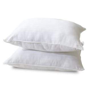 PostureLoft Quiet Sleep Gel Fiber Pillow, Standard (2 Pack)