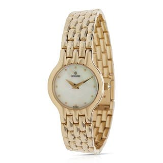 Concord Les Palais 28-62-264 Women's Watch in 14K Yellow Gold|https://ak1.ostkcdn.com/images/products/17075455/P23348659.jpg?impolicy=medium