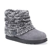 Muk Luks Women's Patti Black Sweater Knit Ankle Boots