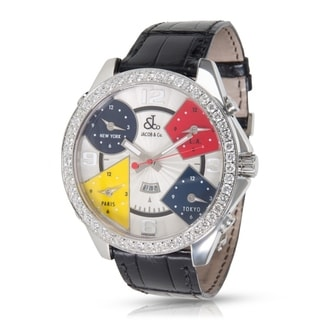Jacob and Co. JC1 Men's Multiple Time Zone Watch in Stainless Steel