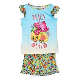 Shopkins Blue & Yellow SPK 'Beach Life' Pajama Set