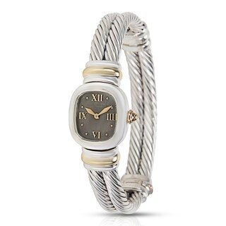 David Yurman Cable Ladies Watch in 14K Yellow Gold & Sterling Silver