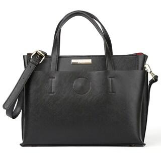Suzy Levian Saffiano Faux Leather Satchel Handbag - L