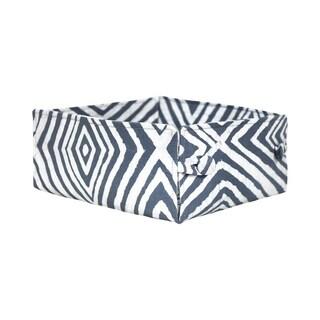 Hand Batiked Diamonds Design Button Basket - Silver (Ghana)