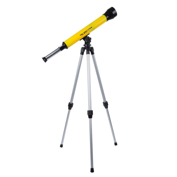 Hey! Play! 40mm Refractor Beginner Telescope with Adjustable Tripod and 30x Magnification
