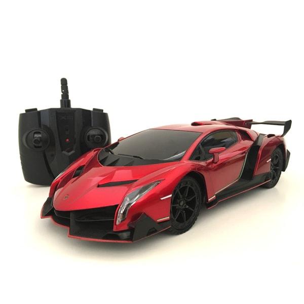 2.4GHZ Multi-Channels Remote Control 1:18-scale Lamborghini Veneno Supercar (Burgundy)