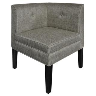 Abbott Button Tufted Corner Linen Chair