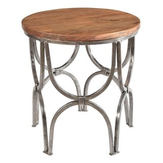 Link to Bengal Manor Mango Wood and Steel Round End Table Similar Items in Living Room Furniture