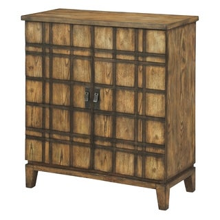 Fairfax Plaid Oak 2 Door Cabinet