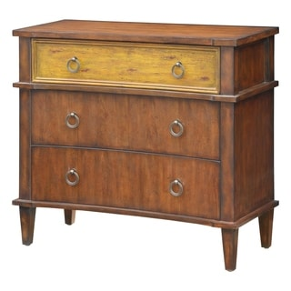 Cumberland Shaped 3 Drawer Two Tone Chest