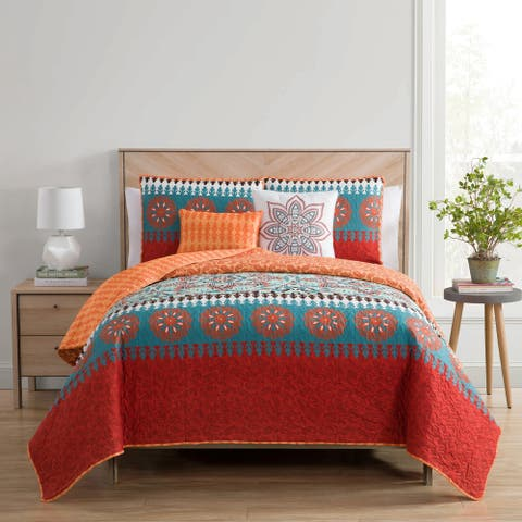 VCNY Home Ezra Reversible Quilt Set