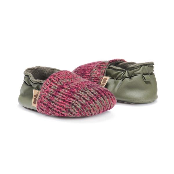 MUK LUKS® Dark Cherry Baby Soft Shoes