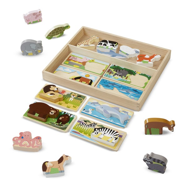 Melissa & Doug Wooden Animal Picture Boards
