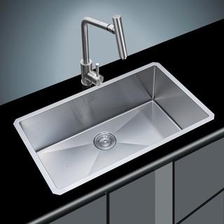 18 Gauge Stainless Steel 32 Inch Single Basin Undermount Kitchen Sink